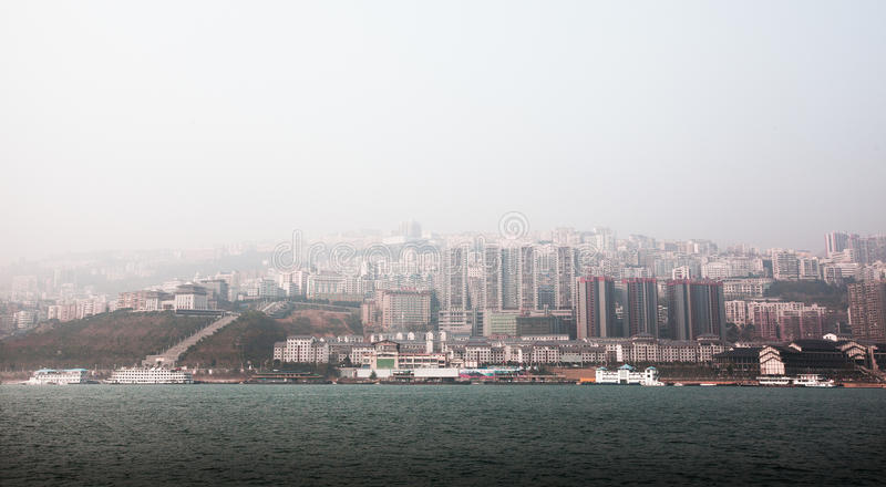 Wu klyfta av Kina Chongqing royaltyfria bilder