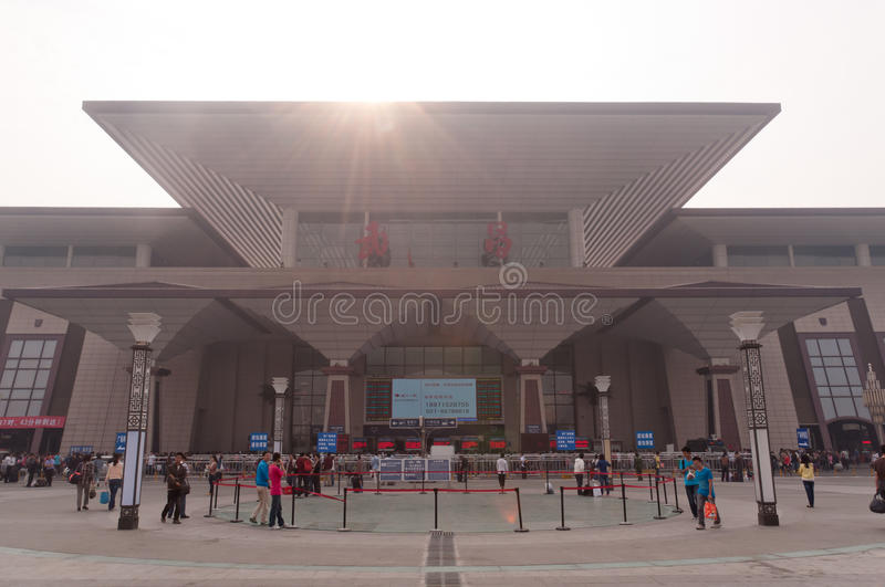 Wuchang Railway Station stock image
