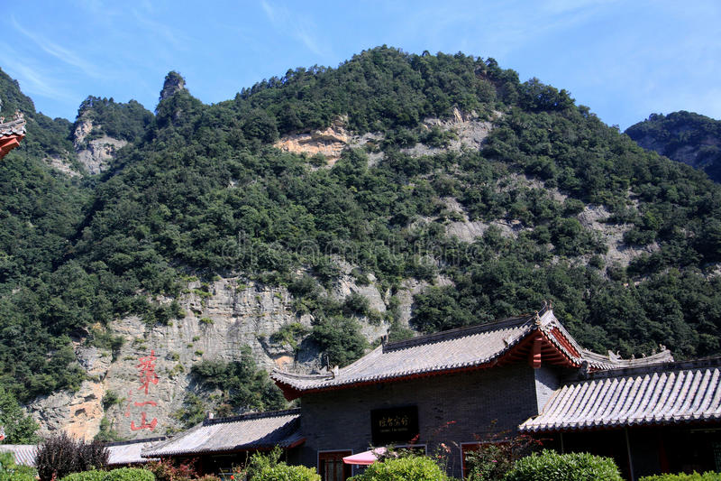 Wudang-Berg, ein berühmtes Taoist-Heiliges Land in China lizenzfreies stockbild