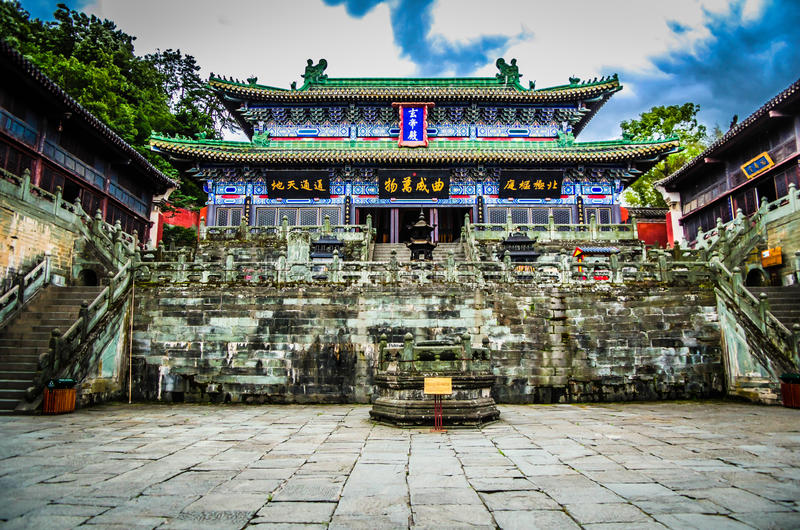Wudang-Berg, ein berühmtes Taoist-Heiliges Land in China lizenzfreies stockfoto