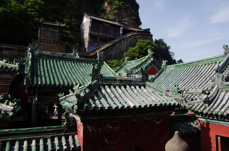 Wudang-Gebirgstempel in China stockbild