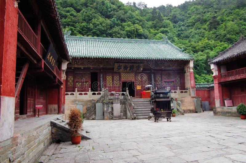 Wudang-Gebirgstempel in China lizenzfreies stockbild