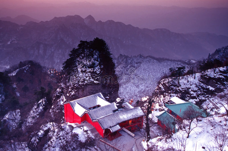 Wudang im Winter stockfotos