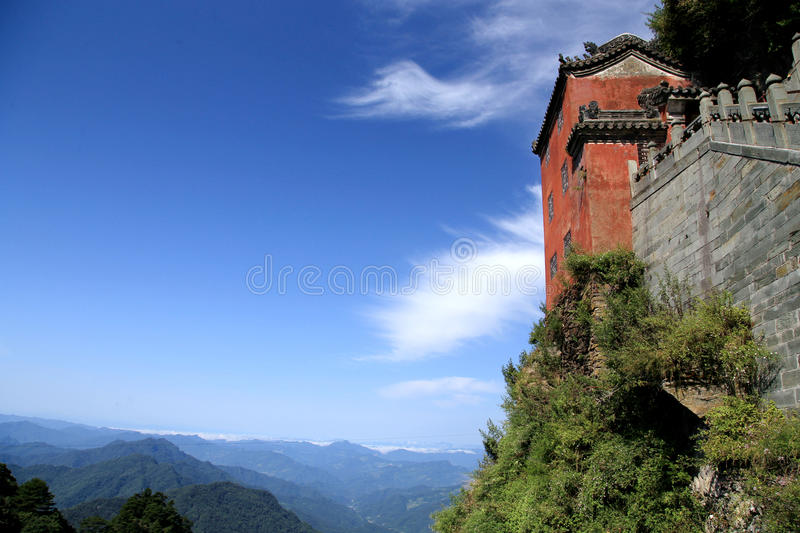 Wudang mountain , a famous Taoist Holy Land in China. Wudang mountain , a famous Taoist Holy Land and World Cultural Heritage in China,loacted in Shiyan city stock photos