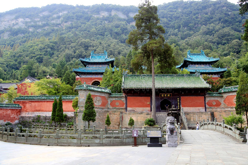 Wudang mountain , a famous Taoist Holy Land in China. Wudang mountain , a famous Taoist Holy Land and World Cultural Heritage in China,loacted in Shiyan city stock photo
