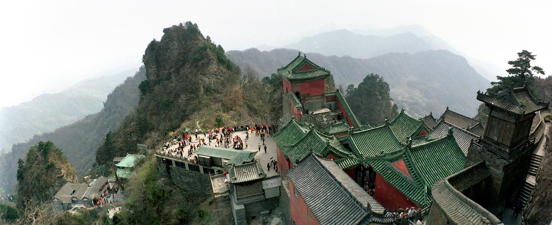 Wudangbergen, Wudangshan royalty-vrije stock afbeeldingen