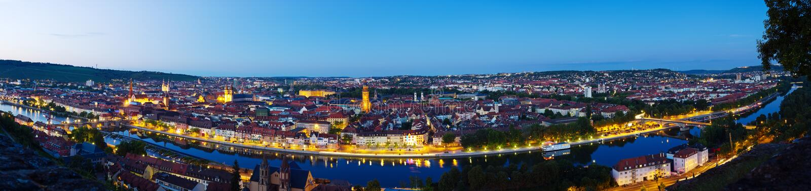 Download Wuerzburg At Night Panorama Stock Photography - Image: 26526722