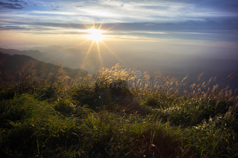 Download Wugong Mountains National Park In Sunset Stock Image - Image: 26634269