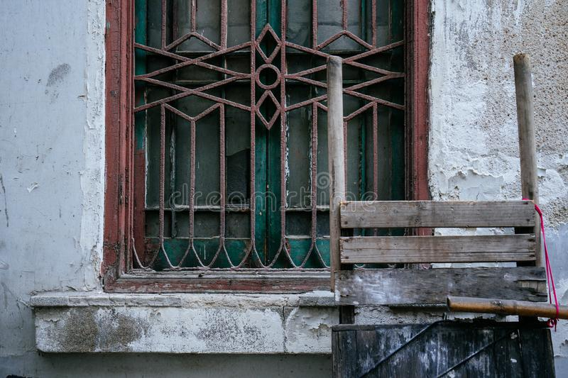 WINDOW IN HUTONG. stock images