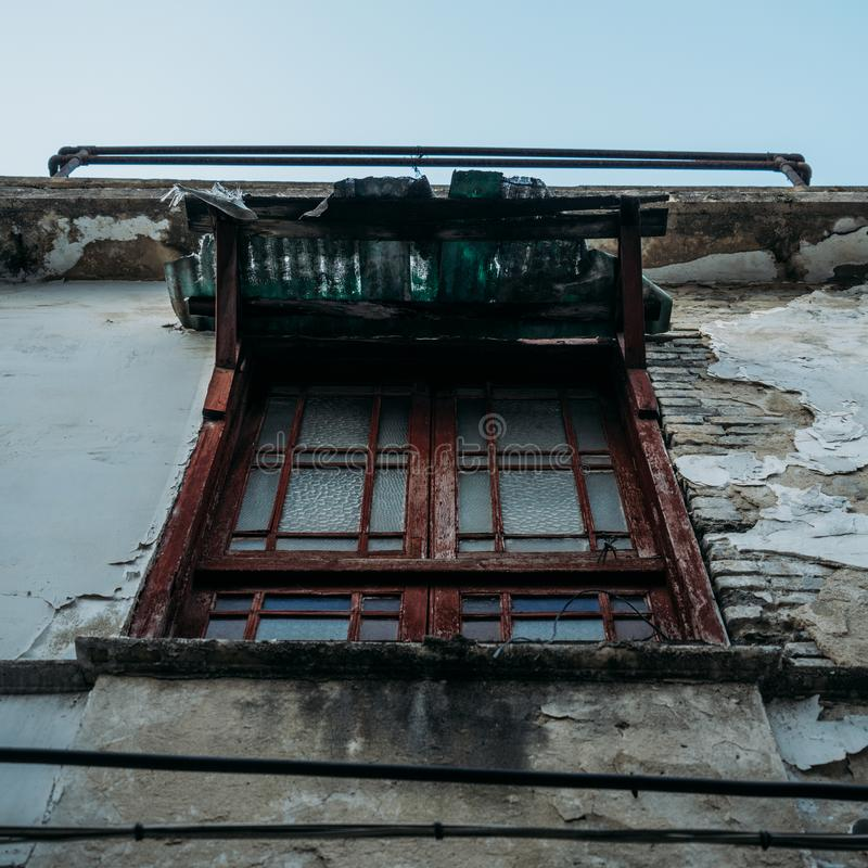 WINDOW IN HUTONG. royalty free stock photo