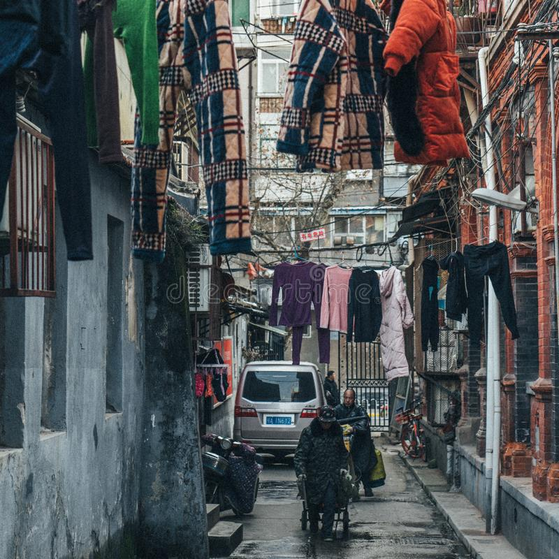 LIVING IN HUTONG. royalty free stock images