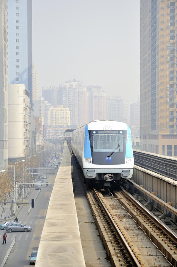Download Wuhan,china: light rail editorial image. Image of light - 18293250