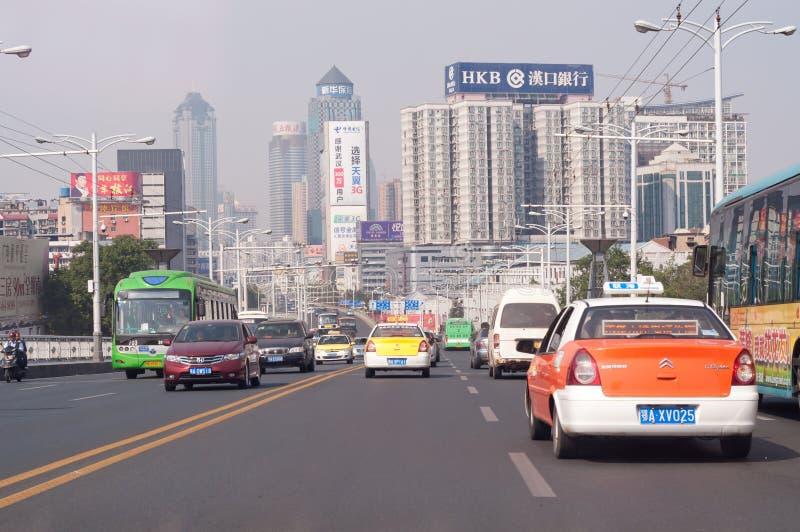 Wuhan city scene stock images