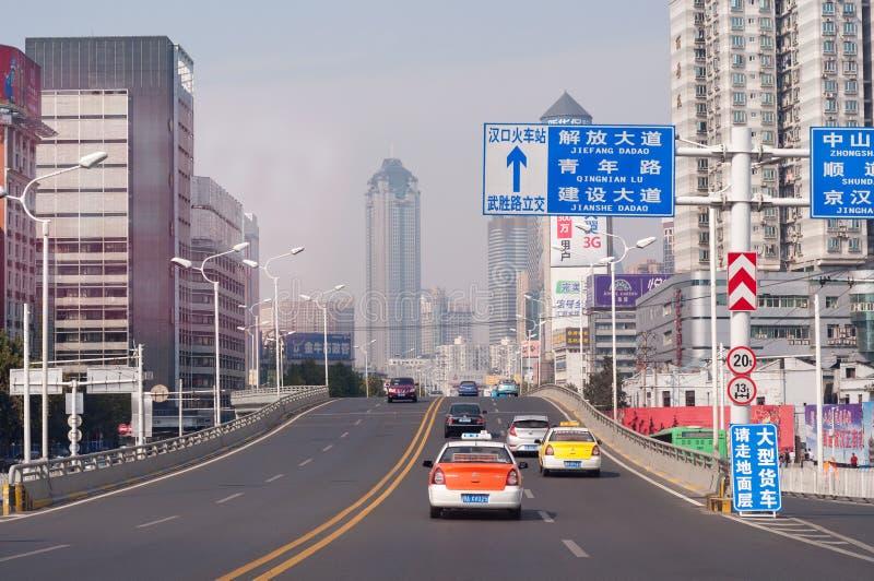 Wuhan city scene stock photo