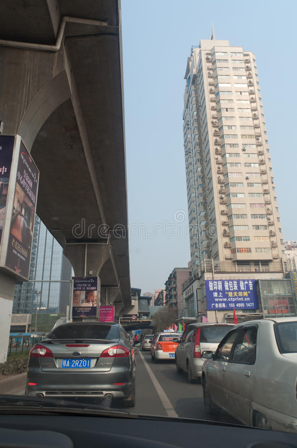 Wuhan city street royalty free stock photos
