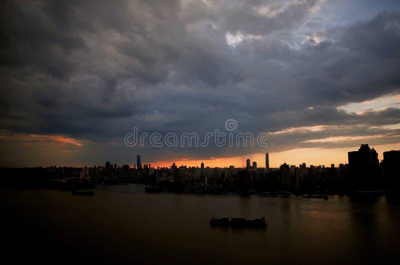 Wuhan il fiume Chang Jiang fotografie stock libere da diritti