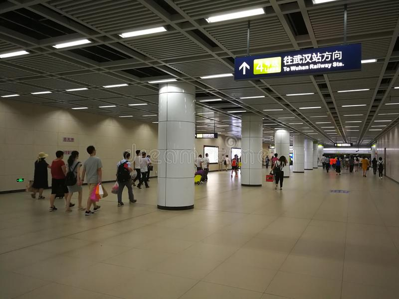 Wuhan metro station stock photography