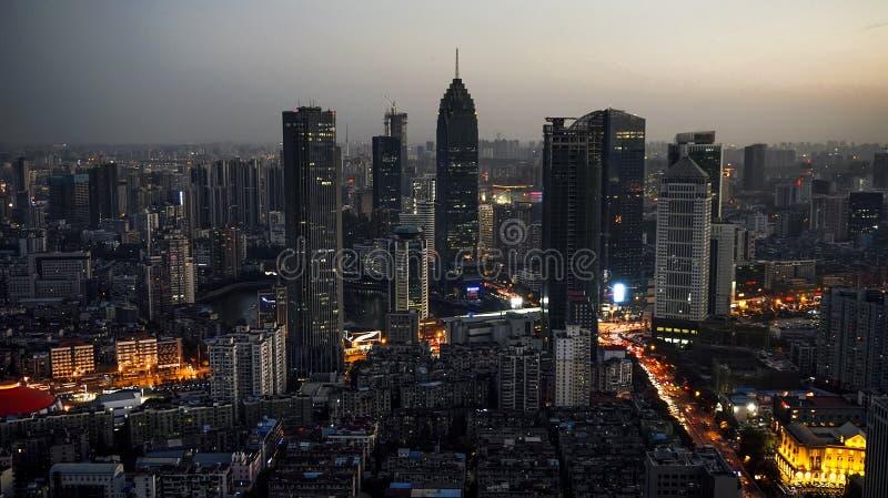 Wuhan miasta Hankou Minsheng banka gromadzki budynek zdjęcia royalty free