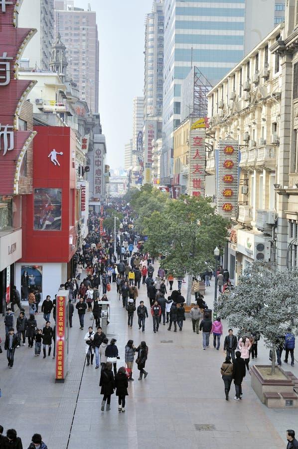 Wuhan, Porzellan: Einkaufszentrum lizenzfreie stockfotografie