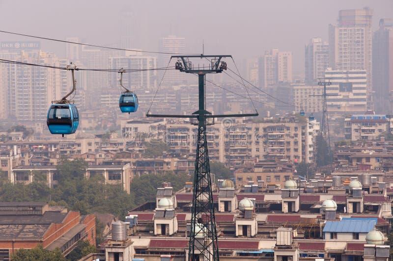 Download Wuhan Stadsplats - Kabelbil Redaktionell Arkivbild - Bild av landskap, sikt: 27277032