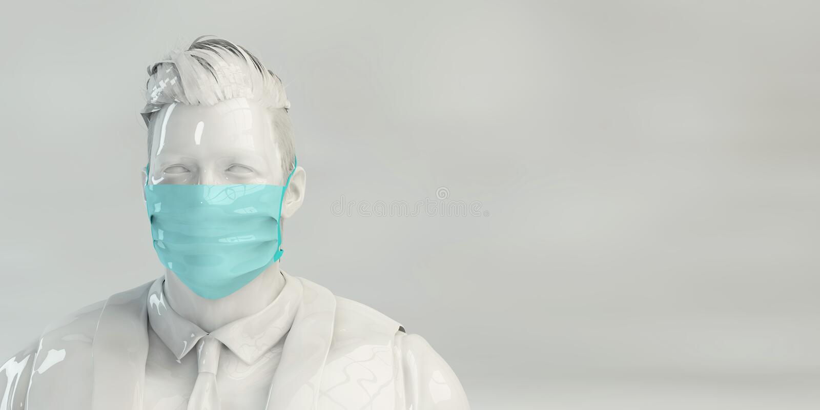 Wuhan Virus Copyspace Backdrop royalty free stock images