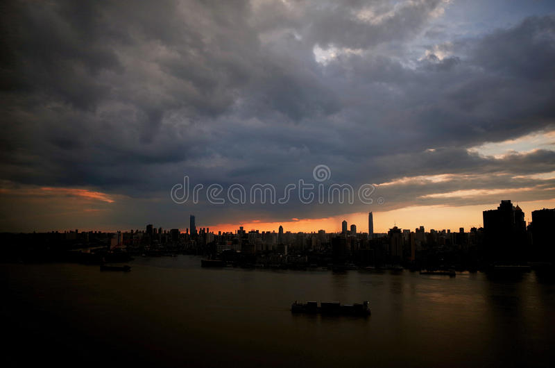 Wuhan Yangtze River royaltyfria foton