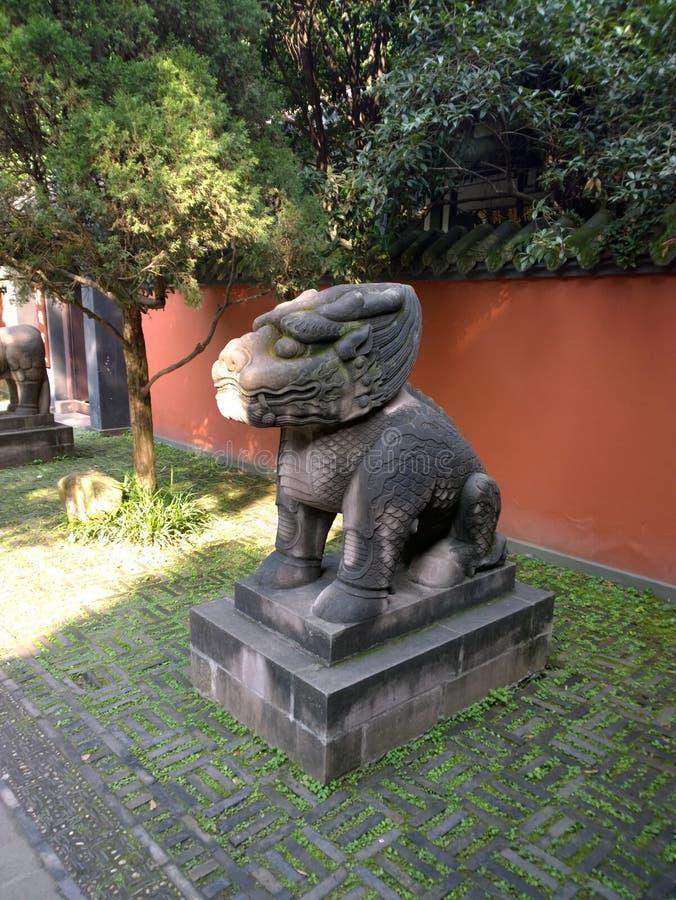 Wuhou tempel arkivbilder