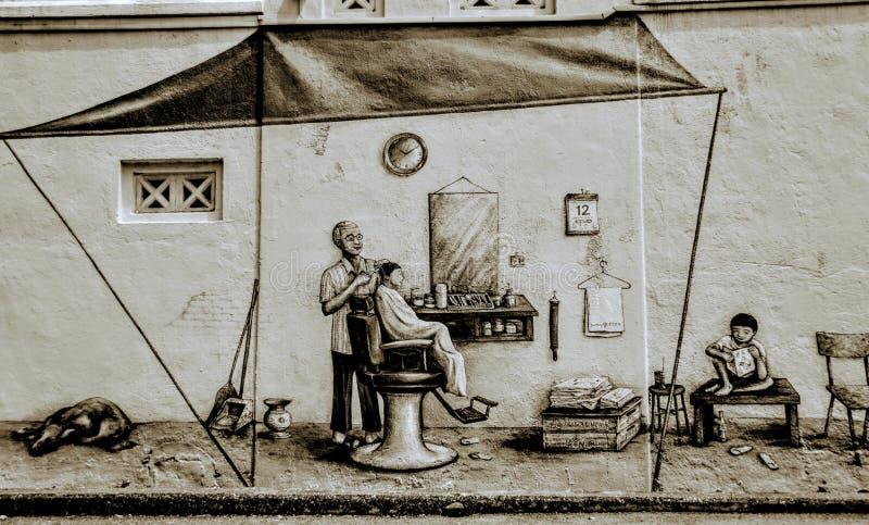 Wujeczny fryzjer męski zdjęcia royalty free