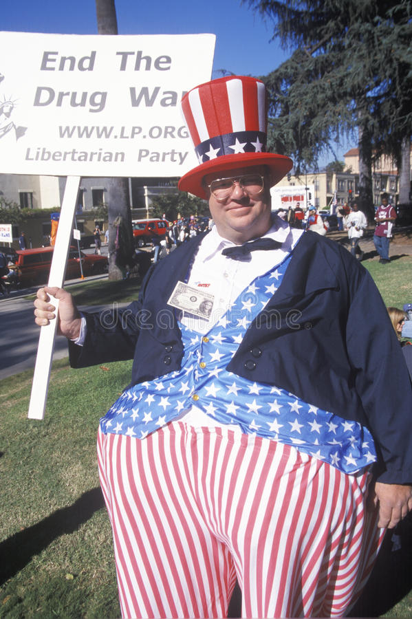 Wujek Sam przy Doo Dah paradą, Pasadena Kalifornia obraz stock