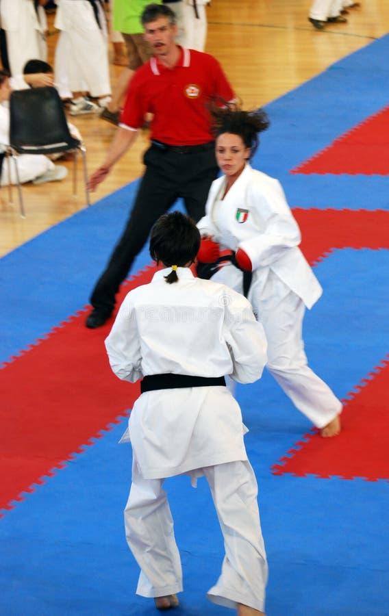 Wuko European Karate Championships royalty free stock photos