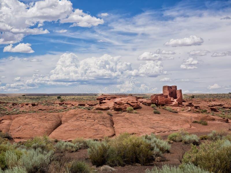Wukoki ruine le complexe en monument national de Wupatki, Arizona image stock
