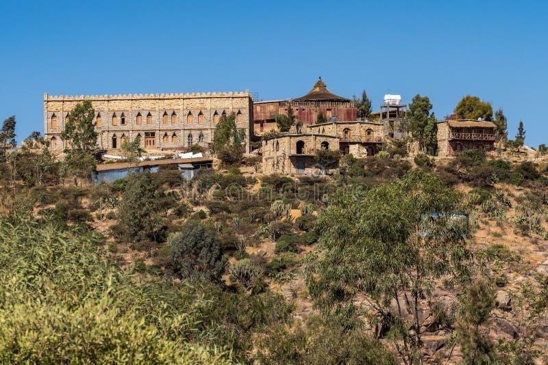 Wukro Cherkos岩石教会在埃塞俄比亚 免版税库存图片
