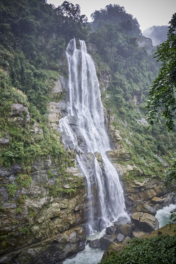 Wulai is a town near Taipei with a beautiful waterfall and pictu stock photography
