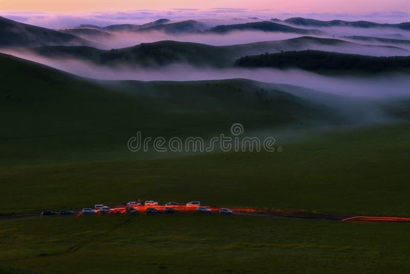 Wulanbu EC prairie morning stock images