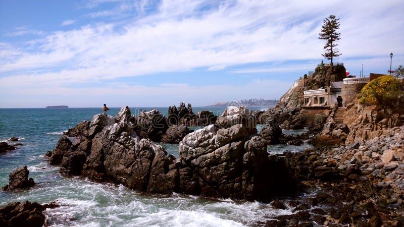 Wulff城堡,比尼亚德尔马,智利 库存照片