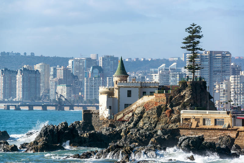 Wulff Castle στη Vina del Mar στοκ φωτογραφία