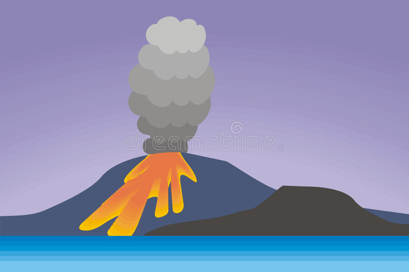 wulkan ilustracji