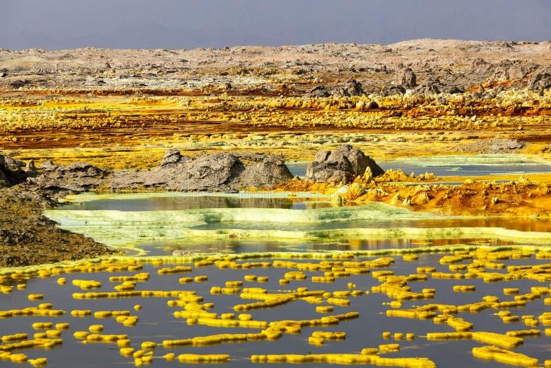 Wulkan Dallol, Etiopia fotografia stock