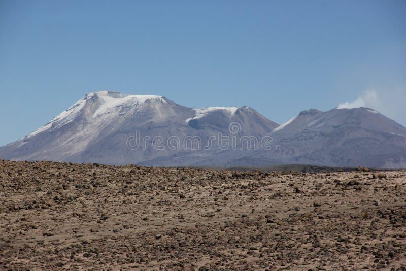 Wulkan El Misti na Altiplano zdjęcie stock