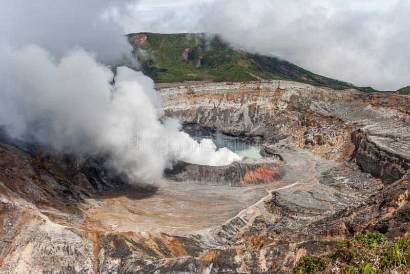 Wulkan Poas w Costa Rica zdjęcie royalty free