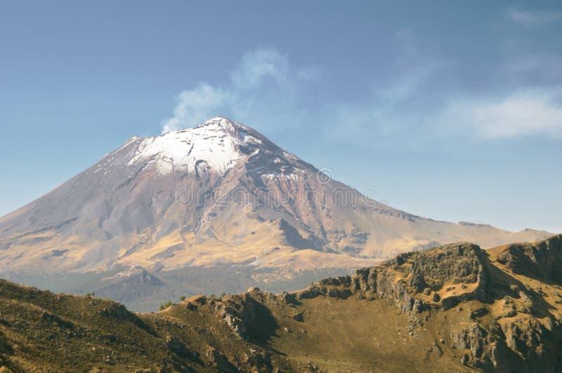 wulkan popocatepetl obraz stock