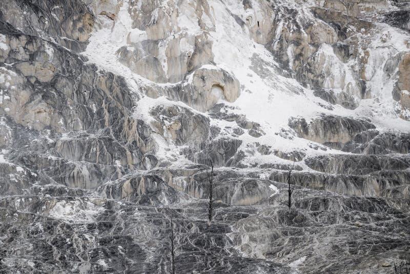 Wulkan tekstury rockowy tło - mamutowy gorących wiosen yellowston obrazy stock