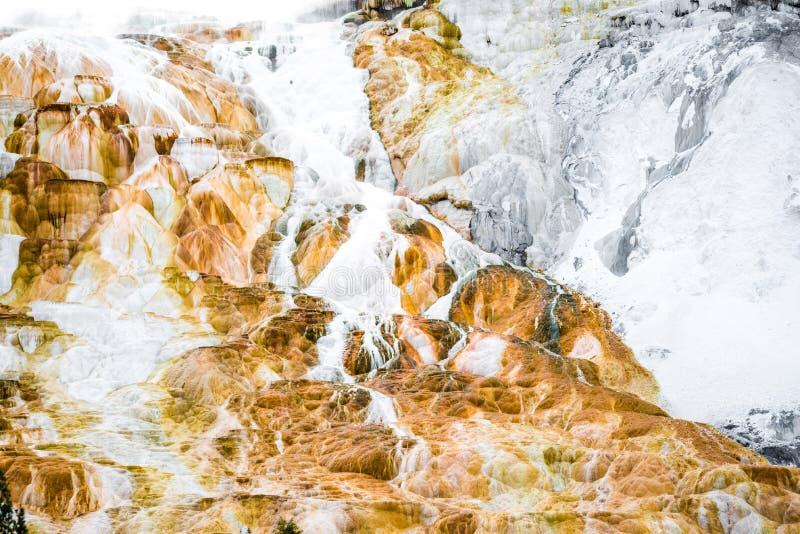 Wulkan tekstury rockowy tło - mamutowy gorących wiosen yellowston zdjęcie royalty free