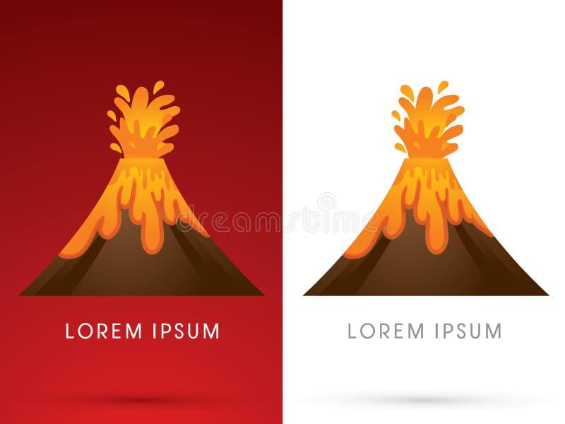 Wulkan wybucha ilustrację ilustracji