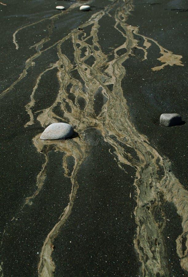 wulkaniczna na plaży fotografia stock