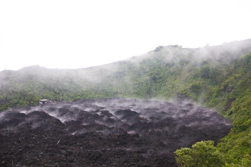 Wulkanu Pacaya park narodowy, Gwatemala fotografia stock