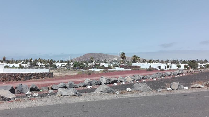 Wulkanu Playa Blanca fotografia royalty free