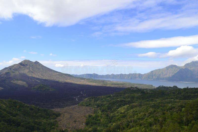 Wulkanu widok od Bali fotografia stock