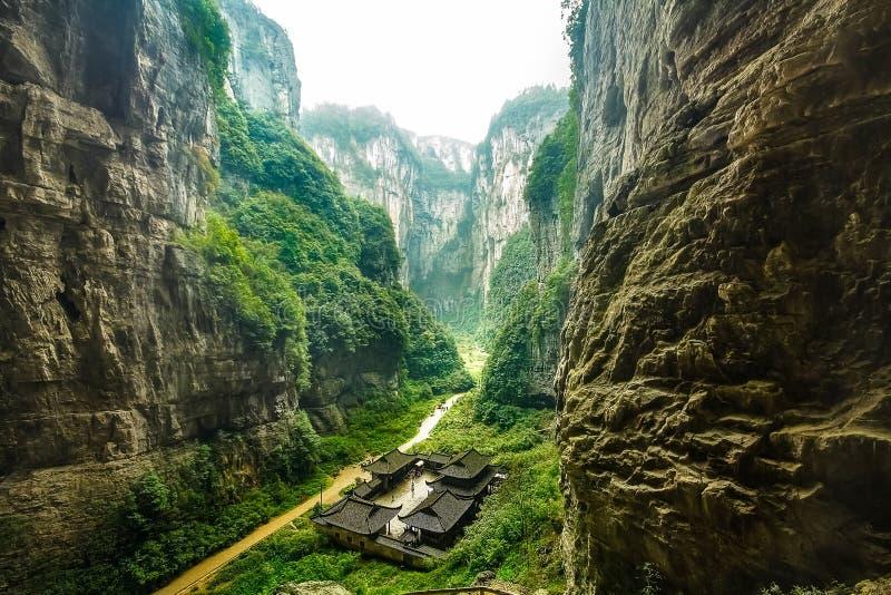 Wulong Nationaal Park, Chongqing, China royalty-vrije stock afbeelding