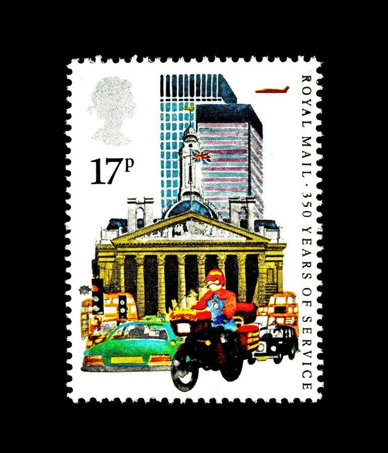 Wunderbare britische Briefmarken lizenzfreie abbildung